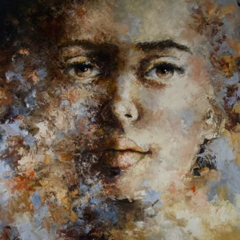 """Painting titled """"'Expression44'"""" by Laura Rominu, Original Art, Oil"""
