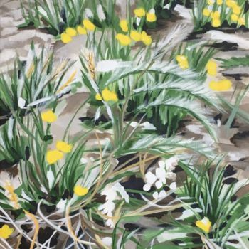 """Painting titled """"Dandelions"""" by Laura K Smith Paintings, Original Art, Acrylic"""