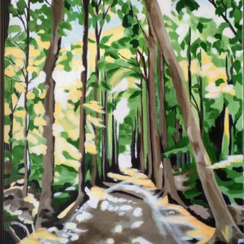 """Painting titled """"Forest Light"""" by Laura K Smith Paintings, Original Art, Acrylic"""