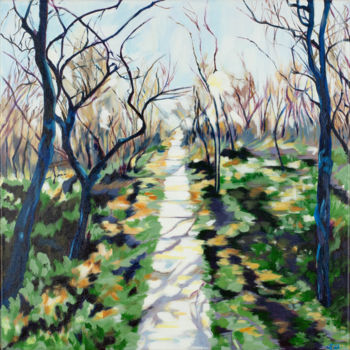 """Painting titled """"Winter Path"""" by Laura K Smith Paintings, Original Art, Acrylic Mounted on Stretcher frame"""