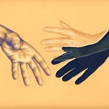 """Collages titled """"Hand to hold"""" by Laura Lee Gulledge, Original Art,"""