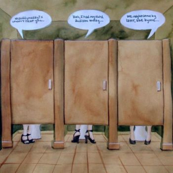 """Collages titled """"Bathroom stalls"""" by Laura Lee Gulledge, Original Art,"""