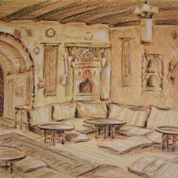 """Collages titled """"Goreme Restaurant,…"""" by Laura Lee Gulledge, Original Art,"""
