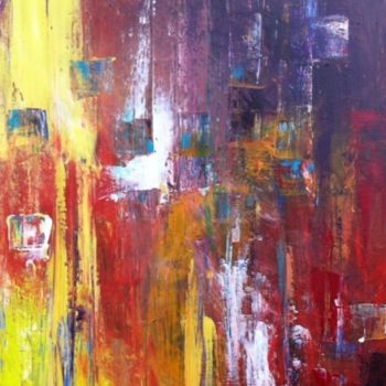 Painting, oil, abstract, artwork by Koki