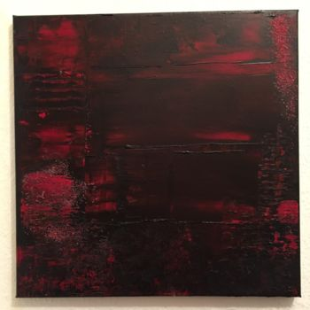 """Painting titled """"Red in the black"""" by Laura Casini, Original Art, Acrylic"""