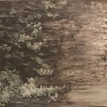 """Painting titled """"Clouds upon a winte…"""" by Laura Casini, Original Art, Acrylic"""