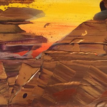 """Painting titled """"Sunset in the desert"""" by Laura Casini, Original Art, Acrylic"""
