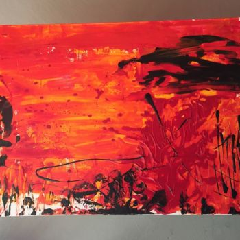 """Painting titled """"Fuego"""" by Laura Casini, Original Art, Acrylic"""