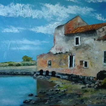 Painting, oil, impressionism, artwork by Luciano Fernandes