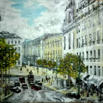 Painting, oil, expressionism, artwork by Luciano Fernandes
