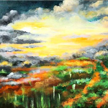 """Painting titled """"Sold ! Where Earth…"""" by Linda Paul, Original Art, Acrylic"""