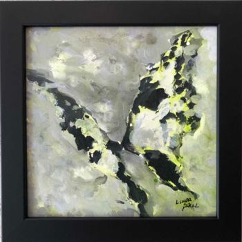 """Painting titled """"Framed Abstract But…"""" by Linda Paul, Original Art, Acrylic"""