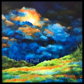 """Painting titled """"Enlightenment lands…"""" by Linda Paul, Original Art, Acrylic"""