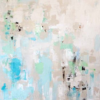 """Painting titled """"Beach Song abstract…"""" by Linda Paul, Original Art, Acrylic"""