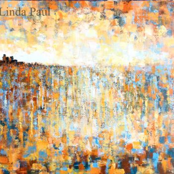 """Painting titled """"City by The Bay ori…"""" by Linda Paul, Original Art, Acrylic"""