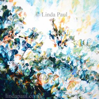 """Painting titled """"Flowers of the Ocea…"""" by Linda Paul, Original Art, Acrylic"""