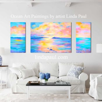 """Painting titled """"The Passage Ocean a…"""" by Linda Paul, Original Art, Acrylic"""
