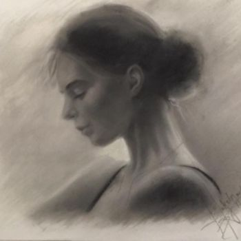 Drawing, charcoal, artwork by L.Jakobsson