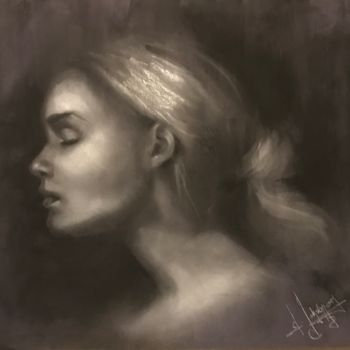 Painting, charcoal, artwork by L.Jakobsson