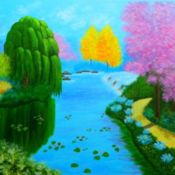 """Painting titled """"The Promised Land -…"""" by Liza Wheeler, Original Art, Acrylic"""