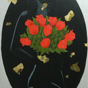 """Painting titled """"Romance in Red - ab…"""" by Liza Wheeler, Original Art, Acrylic"""