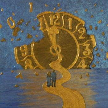 """Painting titled """"Lost in Time - voya…"""" by Liza Wheeler, Original Art, Acrylic"""