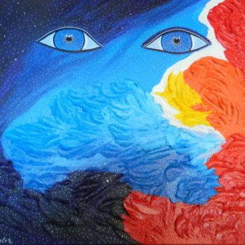 """Painting titled """"Cosmos Voyager - ab…"""" by Liza Wheeler, Original Art, Acrylic"""