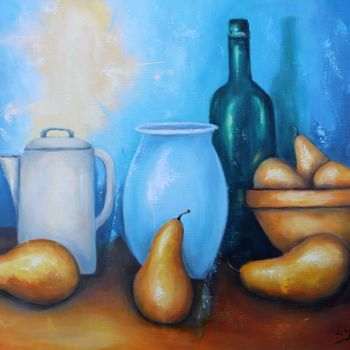 Still life Painting, oil, figurative, artwork by Jean-Luc Lopez