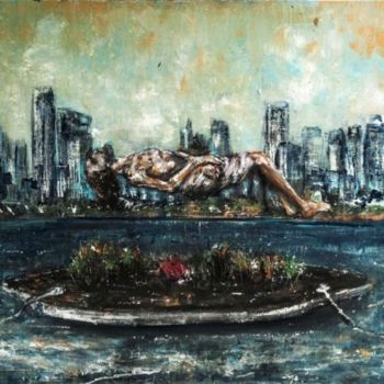 """Painting titled """"Rising"""" by Luca Palazzi, Original Art, Oil"""
