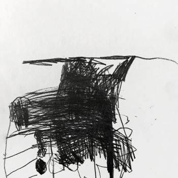 Abstract Drawing, graphite, abstract, artwork by Luc Pierre