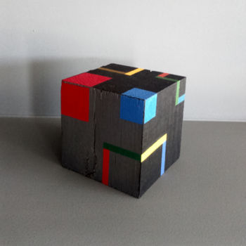Sculpture, wood, geometric, artwork by Luis Medina