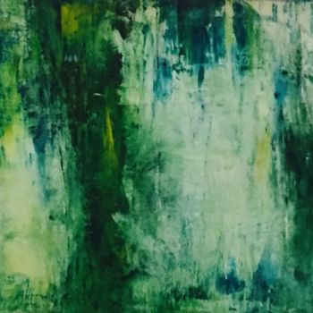 Forest Painting, acrylic, abstract, artwork by Suely Blot