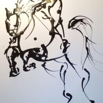 """Drawing titled """"jump"""" by Magdalena Gintowt-Juchniewicz, Original Art, Ink"""