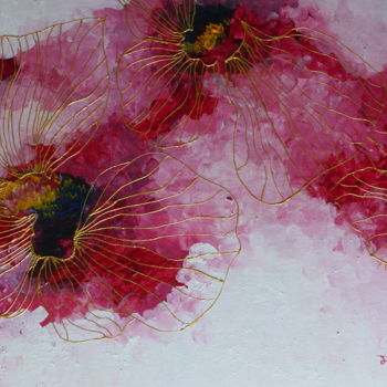 """Painting titled """"Blooming Flowers -…"""" by Mallika Seth, Original Art, Acrylic"""