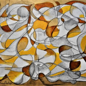 Painting, oil, abstract, artwork by Manuel Santiago