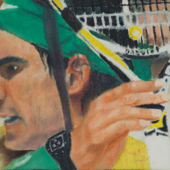 Tennis Painting, impressionism, artwork by Marcelo Camargo