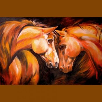 """Painting titled """"First Meeting"""" by Marcia Baldwin, Original Art, Oil"""