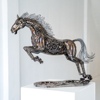 Animal Sculpture, metals, figurative, artwork by Mari9art Metal Art Sculpture