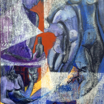 Painting, acrylic, expressionism, artwork by Marie-Noëlle Gagnan