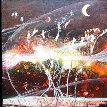 Painting, acrylic, abstract, artwork by Marie Laplace