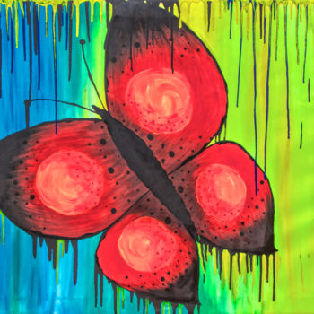 """Painting titled """"Spring butterfly"""" by Marian Bogatu, Original Art, Acrylic"""