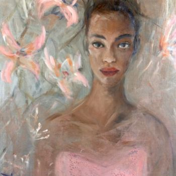 Portrait Painting, oil, figurative, artwork by Martins Marie Pascale
