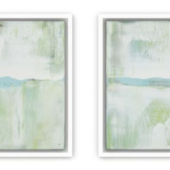 """Painting titled """"Aqua Flows 