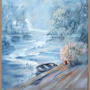 Painting, oil, abstract, artwork by Anne Marie Mazzocchi