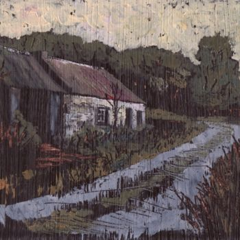Painting, oil, artwork by Micheal O Muirthile