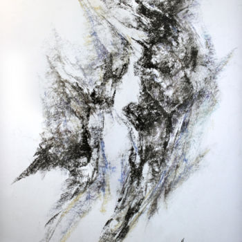 """Drawing titled """"ESPACE 19"""" by Claude Micheli, Original Art, Pastel"""