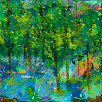 """Painting titled """"Abstract Forest"""" by Mk Anisko, Original Art, Acrylic"""