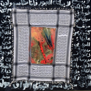 """Painting titled """"Palestinian secret.…"""" by Moeen Alsousi, Original Art, Acrylic"""