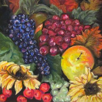 """Painting titled """"autumn-bounty"""" by Bobbie O'Toole, Original Art, Pastel"""