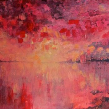 """Painting titled """"red-sky-at-night"""" by Bobbie O'Toole, Original Art, Acrylic"""